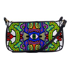 Abstract Shape Doodle Thing Shoulder Clutch Bags