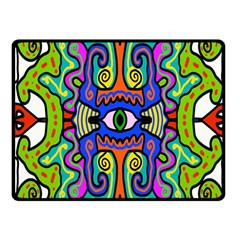 Abstract Shape Doodle Thing Fleece Blanket (small)