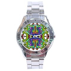 Abstract Shape Doodle Thing Stainless Steel Analogue Watch