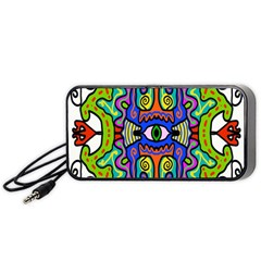 Abstract Shape Doodle Thing Portable Speaker (Black)