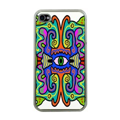 Abstract Shape Doodle Thing Apple iPhone 4 Case (Clear)