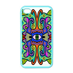 Abstract Shape Doodle Thing Apple Iphone 4 Case (color)