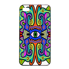 Abstract Shape Doodle Thing Apple Iphone 4/4s Seamless Case (black)