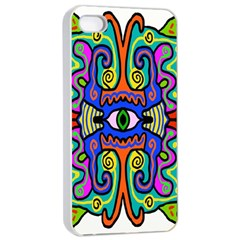 Abstract Shape Doodle Thing Apple Iphone 4/4s Seamless Case (white)
