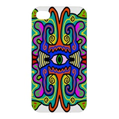 Abstract Shape Doodle Thing Apple Iphone 4/4s Hardshell Case