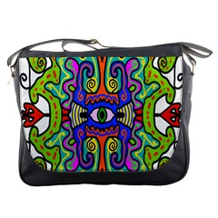 Abstract Shape Doodle Thing Messenger Bags