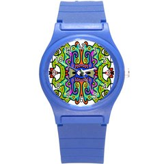 Abstract Shape Doodle Thing Round Plastic Sport Watch (s)