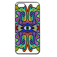Abstract Shape Doodle Thing Apple iPhone 5 Seamless Case (Black)