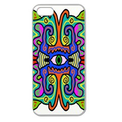 Abstract Shape Doodle Thing Apple Seamless Iphone 5 Case (clear)