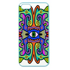 Abstract Shape Doodle Thing Apple Seamless iPhone 5 Case (Color)