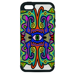 Abstract Shape Doodle Thing Apple Iphone 5 Hardshell Case (pc+silicone)