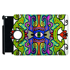 Abstract Shape Doodle Thing Apple iPad 2 Flip 360 Case
