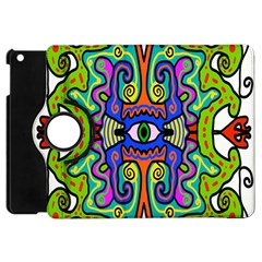 Abstract Shape Doodle Thing Apple Ipad Mini Flip 360 Case