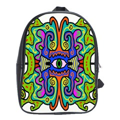 Abstract Shape Doodle Thing School Bags (XL)