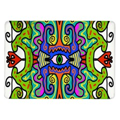 Abstract Shape Doodle Thing Samsung Galaxy Tab 10 1  P7500 Flip Case