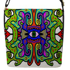 Abstract Shape Doodle Thing Flap Messenger Bag (S)