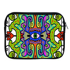 Abstract Shape Doodle Thing Apple Ipad 2/3/4 Zipper Cases