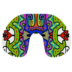 Abstract Shape Doodle Thing Travel Neck Pillows