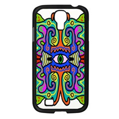 Abstract Shape Doodle Thing Samsung Galaxy S4 I9500/ I9505 Case (Black)