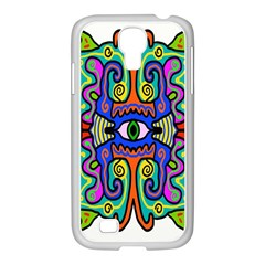 Abstract Shape Doodle Thing Samsung Galaxy S4 I9500/ I9505 Case (white)