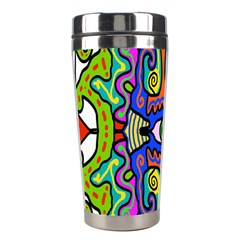 Abstract Shape Doodle Thing Stainless Steel Travel Tumblers