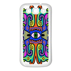 Abstract Shape Doodle Thing Samsung Galaxy S3 Back Case (White)