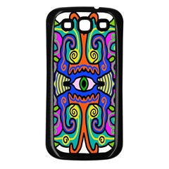 Abstract Shape Doodle Thing Samsung Galaxy S3 Back Case (black)