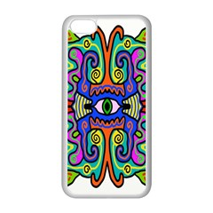 Abstract Shape Doodle Thing Apple iPhone 5C Seamless Case (White)