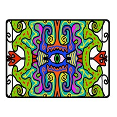 Abstract Shape Doodle Thing Double Sided Fleece Blanket (small)