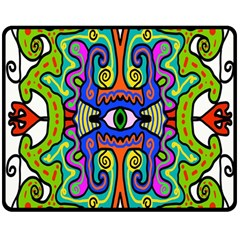 Abstract Shape Doodle Thing Double Sided Fleece Blanket (medium)