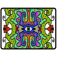 Abstract Shape Doodle Thing Double Sided Fleece Blanket (large)