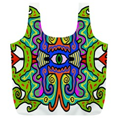 Abstract Shape Doodle Thing Full Print Recycle Bags (L)