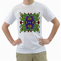 Abstract Shape Doodle Thing Men s T Shirt (white)