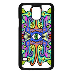 Abstract Shape Doodle Thing Samsung Galaxy S5 Case (Black)