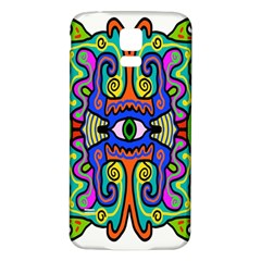 Abstract Shape Doodle Thing Samsung Galaxy S5 Back Case (White)
