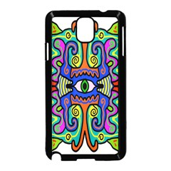 Abstract Shape Doodle Thing Samsung Galaxy Note 3 Neo Hardshell Case (Black)
