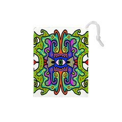 Abstract Shape Doodle Thing Drawstring Pouches (Small)