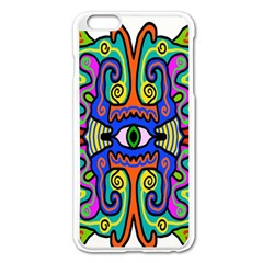 Abstract Shape Doodle Thing Apple iPhone 6 Plus/6S Plus Enamel White Case