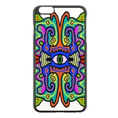 Abstract Shape Doodle Thing Apple iPhone 6 Plus/6S Plus Black Enamel Case
