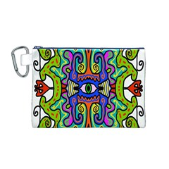 Abstract Shape Doodle Thing Canvas Cosmetic Bag (m)
