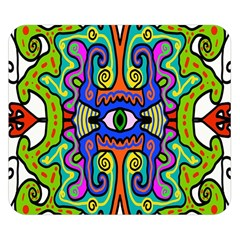 Abstract Shape Doodle Thing Double Sided Flano Blanket (small)