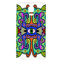 Abstract Shape Doodle Thing Galaxy Note 4 Back Case
