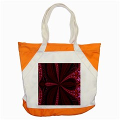 Red Ribbon Effect Newtonian Fractal Accent Tote Bag