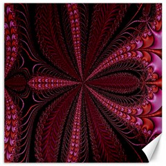 Red Ribbon Effect Newtonian Fractal Canvas 20  X 20