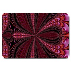 Red Ribbon Effect Newtonian Fractal Large Doormat