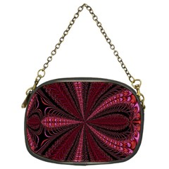 Red Ribbon Effect Newtonian Fractal Chain Purses (two Sides)