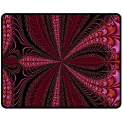 Red Ribbon Effect Newtonian Fractal Fleece Blanket (medium)