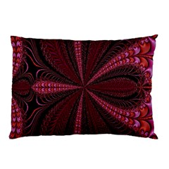 Red Ribbon Effect Newtonian Fractal Pillow Case (two Sides)
