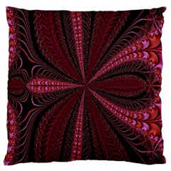 Red Ribbon Effect Newtonian Fractal Large Cushion Case (one Side)