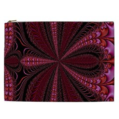 Red Ribbon Effect Newtonian Fractal Cosmetic Bag (XXL)